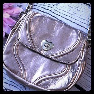 Betsey Johnson Champagne Crossbody Bag